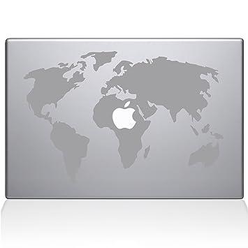 Amazon the decal guru world map macbook decal vinyl sticker the decal guru world map macbook decal vinyl sticker 13quot macbook air silver gumiabroncs Images