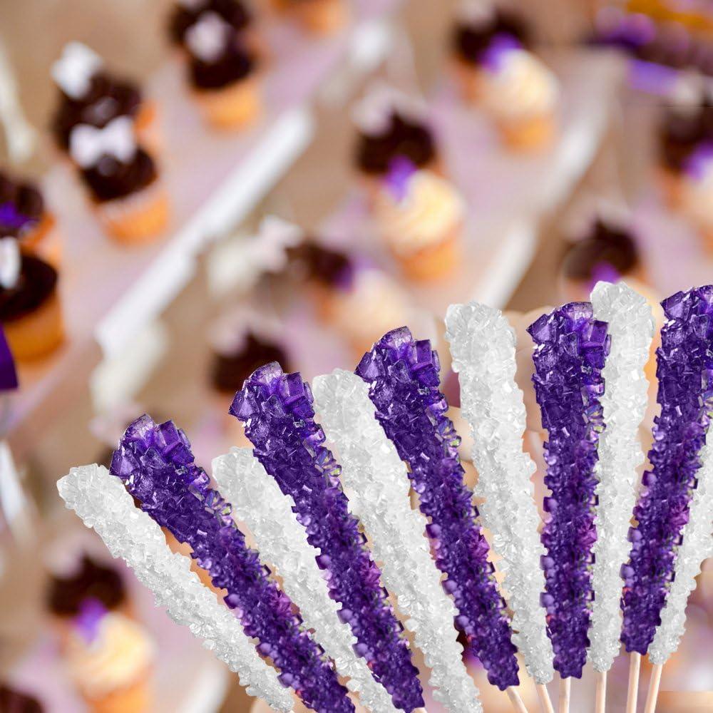 Palitos de Azúcar - Dulce de Roca en Palos - Azúcar en Sticks - 36 Palos - (Blanco / Original)