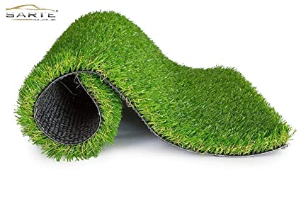 Lowrence Green Soft And Durable Plastic Turf Carpet Mat, Artificial Grass(1.5 X 2 Feet)
