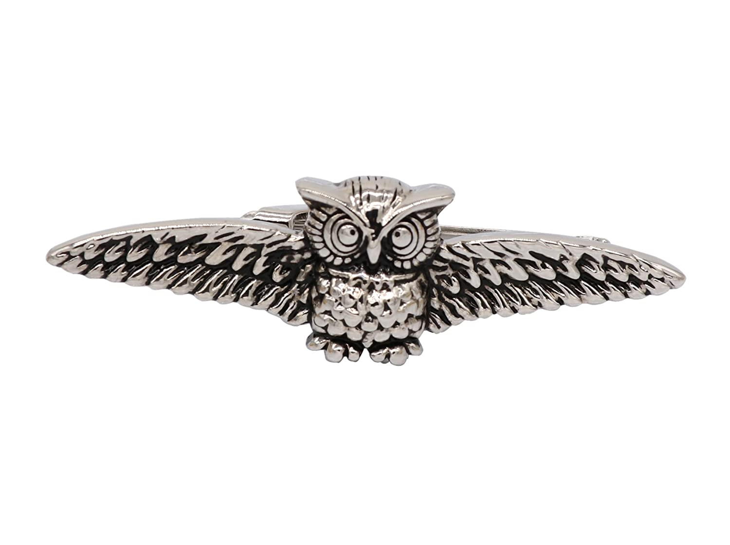 Happy cool owl Tie clips creative engraved Tie clips brass plated white steel Tie clips Metallic animal Tie clips Dapyst BLK.XK.143.YQQ