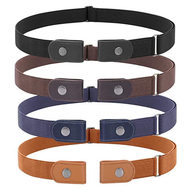 3 Pieces 4 Pieces Buckle Free Adjustable Women Belt