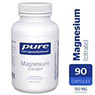 Pure Encapsulations Magnesium (Citrate) - 90 Capsules - Highly Bioavailable Magnesium Chelate