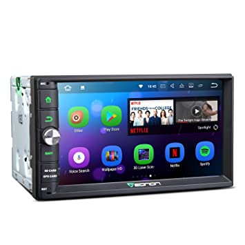"2019 Car Head Unit, Eonon Android 8.1 Double Din Car Stereo Radio 7"" 32GB"