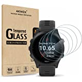 AKWOX (Pack of 4) Tempered Glass Screen Protector for Garmin Forerunner 945, [0.3mm 2.5D High Definition 9H] Premium…