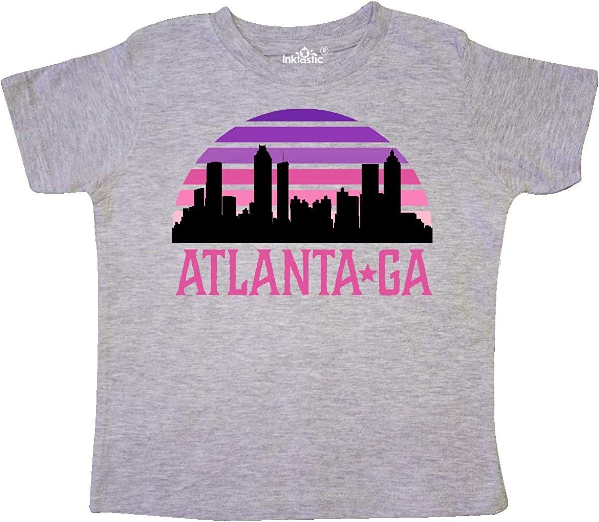 inktastic Atlanta Georgia Retro Sunset Skyline Toddler T-Shirt