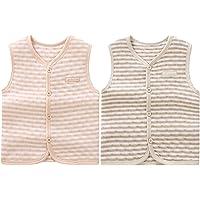 ThreeH Chaleco cálido de algodón para bebés Chaleco Unisex Chaleco Grueso Tops Abrigos BR06 (Pack de 2)