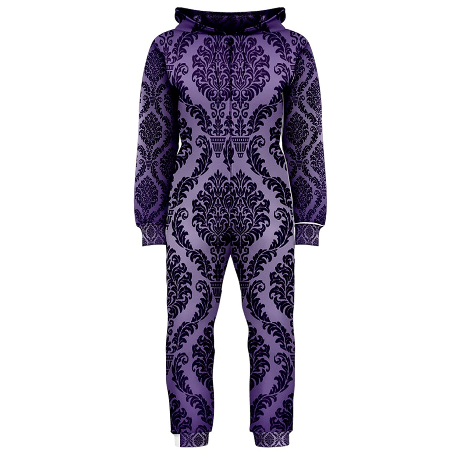 Deep Purple Vintage Baroque Hooded Onesie (Ladies)