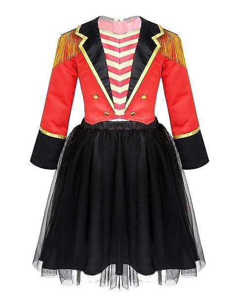 inlzdz Vestido Tutú Princesa de Halloween Navidad para Niña ...