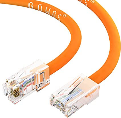 Computer Network Cable with Snagless Connector UTP Cat6 Ethernet Cable Available 28 Lengths and 10 Color 50 Feet - Orange RJ45 10Gbps High Speed LAN Internet Patch Cord CABLECHOICE 5-Pack