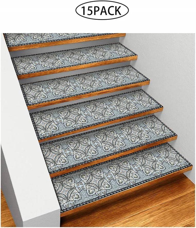 GFE Estera para escaleras, Antideslizante Pegatina peldaño para escaleras Alfombra para el hogar, —15PACK: Amazon.es: Hogar