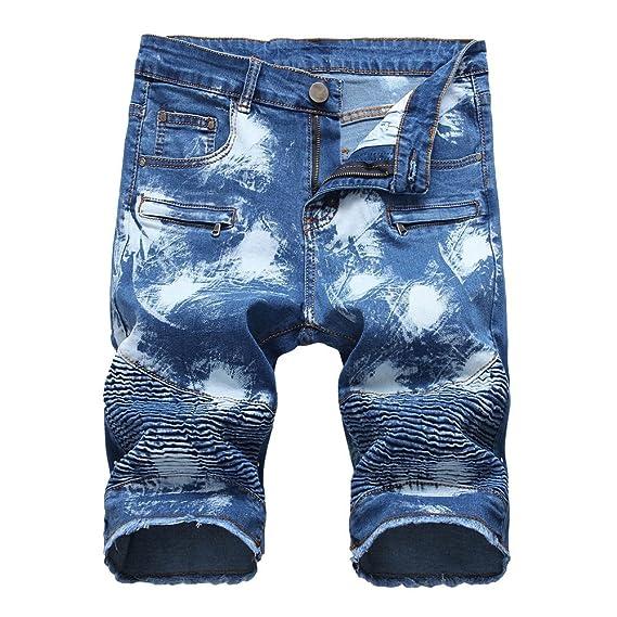 CIELLTE Shorts en Jean Homme b091af69433