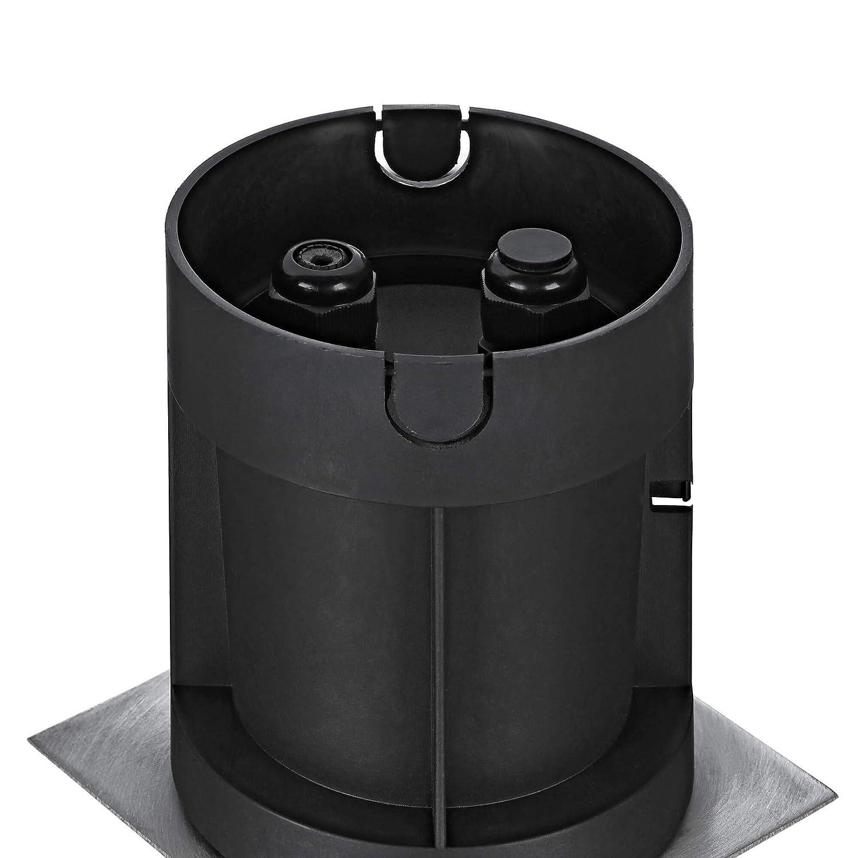 lambado/® LED Bodeneinbaustrahler f/ür Aussen IP67 3W 230V GU10 Strahler neutralweiss Eckiger Bodenstrahler//Bodenleuchte aus Edelstahl f/ür Terrasse /& Garten Wasserdicht /& Befahrbar inkl