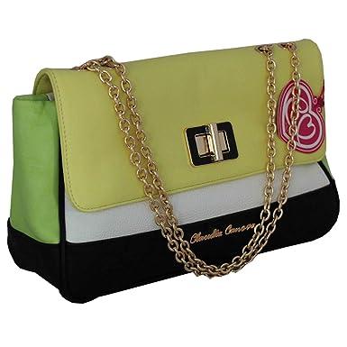 Claudia Canova Yellow Designer Handbag