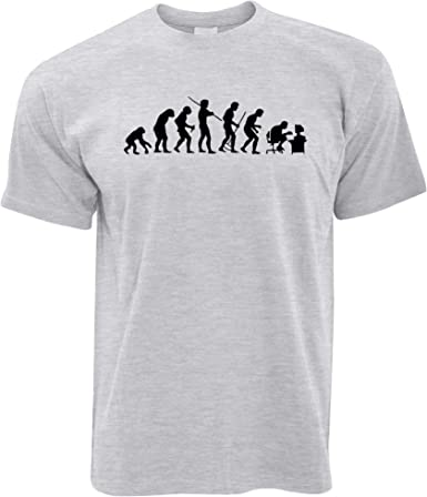 Evolution T-Shirt 100/% Cotton Funny Present Gift Geek Nerd