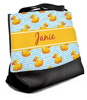 87f92c73ae Image Unavailable. Image not available for. Color  Rubber Duckie Beach Tote  Bag - Large ...