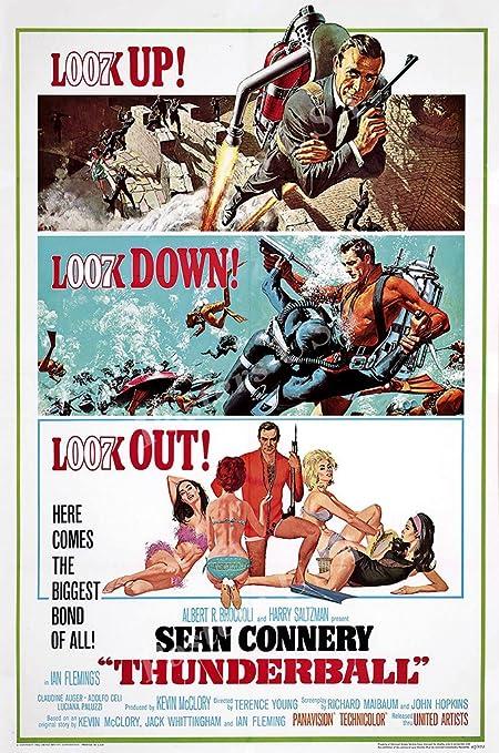 Amazon.com: Posters USA 007 Thunderball James Bond Movie Poster ...