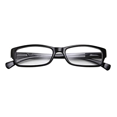 Kids Smart Looks Eye Glasses Rectangle Nerd Children's Clear Lens (Age 6-12) Black: Clothing