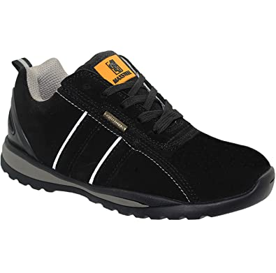 New Mens Black Ultra Lightweight Steel Toe Cap Safety Work Ankle Shoes Trainers