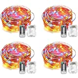 Amazon Price History for:YIHONG 4 Set Fairy Lights Battery Operated String Lights Waterproof 8 Modes 50 LED Fairy String Lights 16.4FT Firefly Lights Remote Control for Halloween Thanksgiving Christmas Decor (Multicolor)