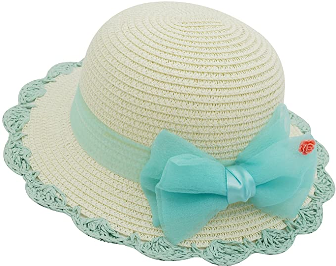 79116b30 Amazon.com: Little Babies Kids Lace Bowknot UPF 50 Sun Hat Summer ...