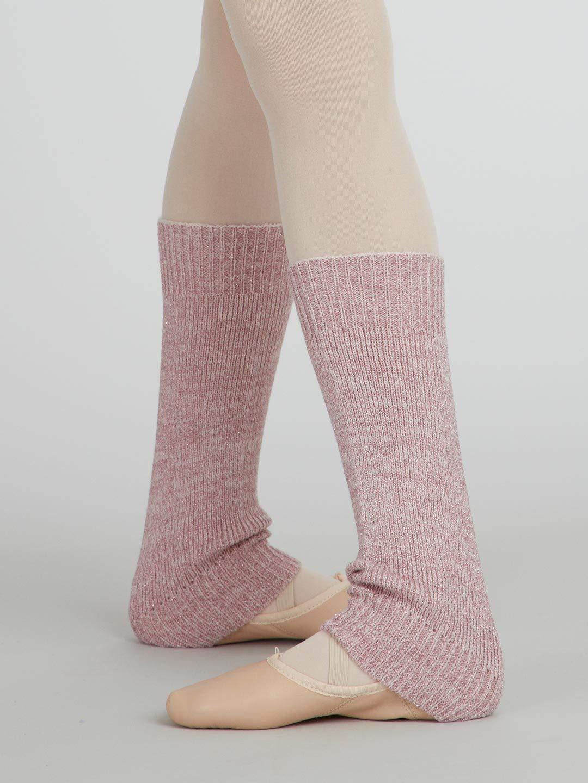 Capezio Women's 18'' Metallic Sheen Legwarmers - One Size, Pink
