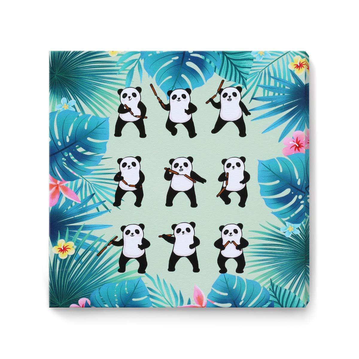 YJY Funny Animals Framed Wall Art Panda Kung Fu Canvas Prints Wall Decoration 12