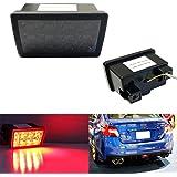 iJDMTOY Dark Smoked Lens F1 Style LED Rear Foglamp Kit For 11-up Subaru WRX/STi Impreza XV Crosstrek, Strobe Flashing…