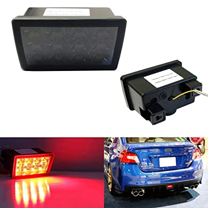 iJDMTOY Dark Smoked Lens F1 Style LED Rear Foglamp Kit For 11-up Subaru on