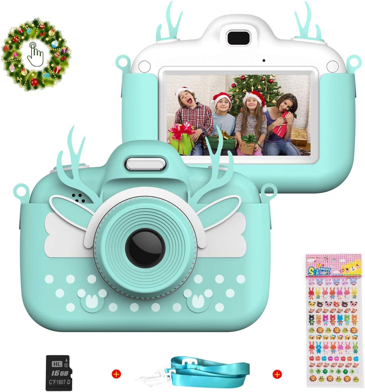 Vannico Camara de Fotos para Niños, Cámara para Niños de Fotos Mini Cámara Digital con Tarjeta TF 16gb Niños de 3 a 10 Años (Azul)