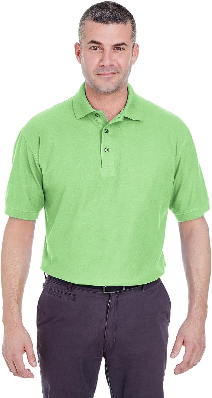 UltraClub Men's Whisper Fit Pique Polo Shirt