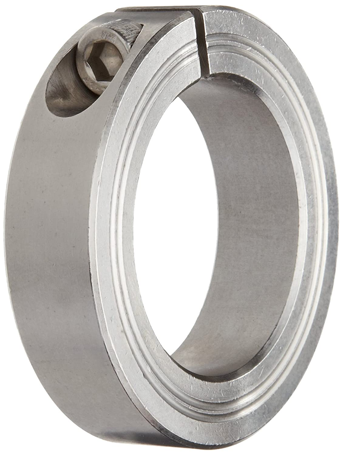 40mm OD Stainless Steel Metric 20mm Bore 15mm Width, Climax Metal M2C-20-S Two-Piece Clamping Collar