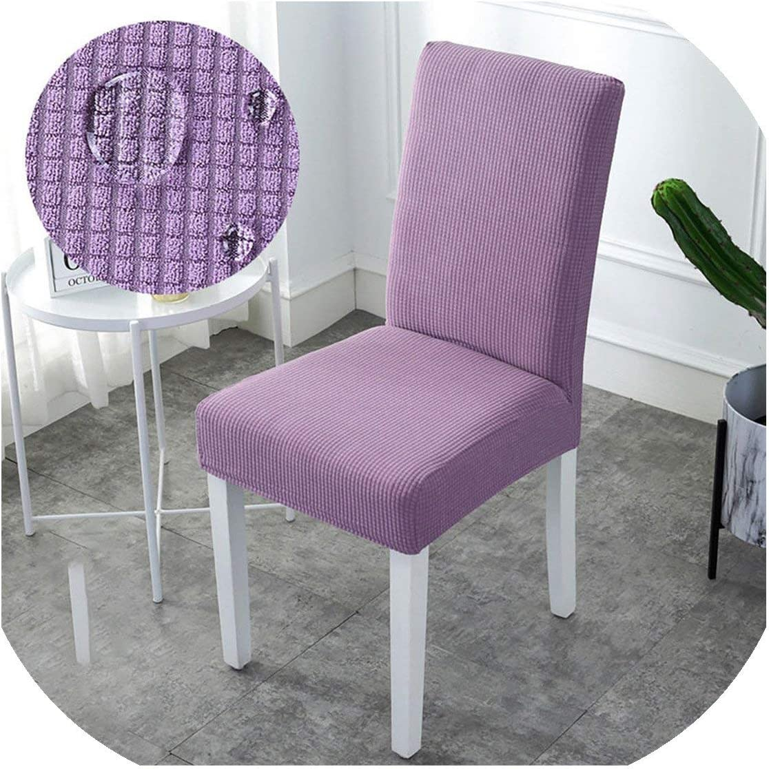 shop 1994 Super Soft Jacquard Fabric Short Term Waterproof Stretch Chair Cover Elastic Spandex Seat Chair Cover for Dining Room/Kitchen,Violet,Universal Sizes