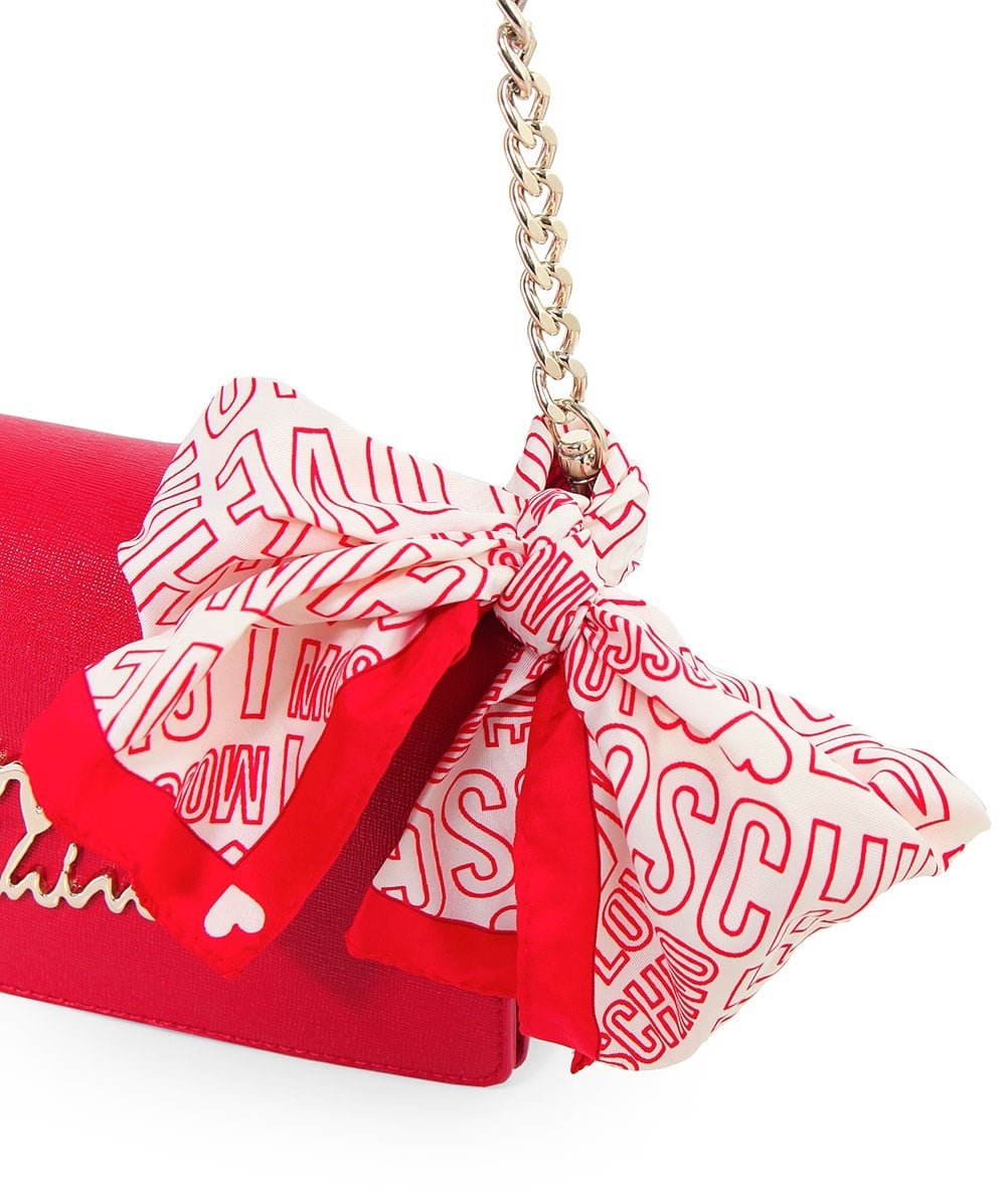 Love Moschino Women's Leather Small Crossbody Bag One Size Red by Love Moschino (Image #5)