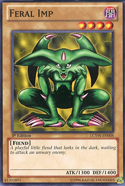 Amazon Com Yu Gi Oh Feral Imp Lcyw En008 Legendary Collection 3 Yugi S World 1st Edition Common Toys Games