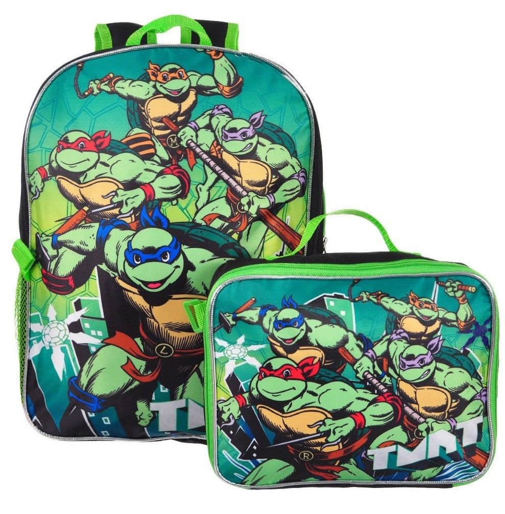 Ninja Turtles TMNT Dimension Boys School Backpack Lunchbox Book Bag SET