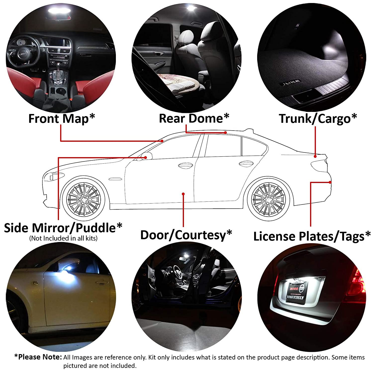 Ledpartsnow 2000 2006 Toyota Tundra Led Interior Lights Diagram Also Honda Ridgeline Headlight Bulbs On Accessories Package Replacement Kit 15 White Automotive