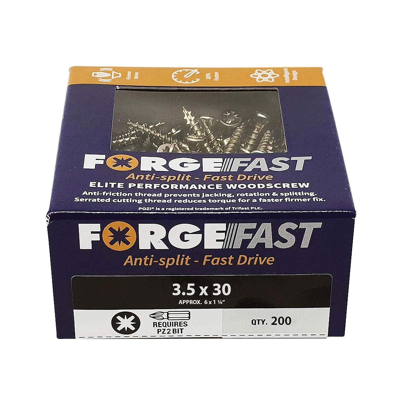 color plateado FORFFP670Y Forgefix plateado Organizador de tornillos de madera FORFFP1000Y Forgefast Pozi compatible con Elite Performance