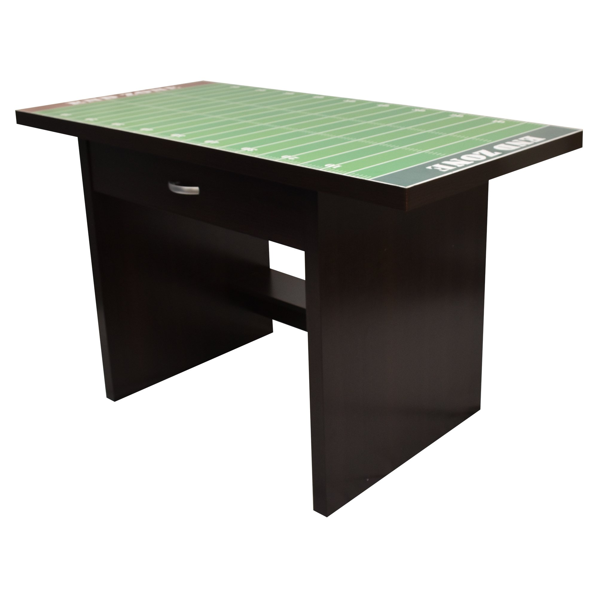 Kids Football Sports Fan Desk, Wooden Construction with Drawer, Glossy Finish and Easy to Clean, 35'' by Rack Furniture by Little Partners