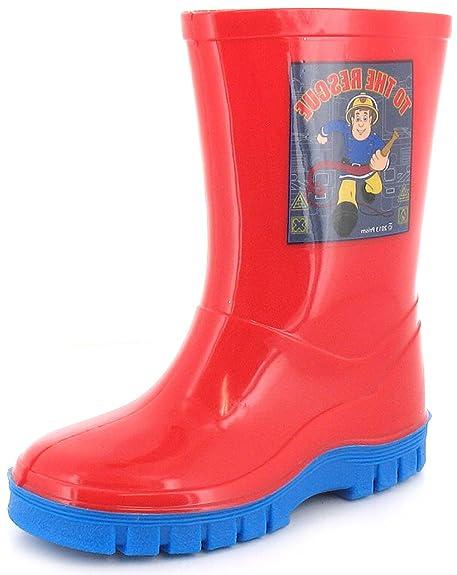 Fireman Sam - Botas de agua de sintético niño c1c073992e6e5