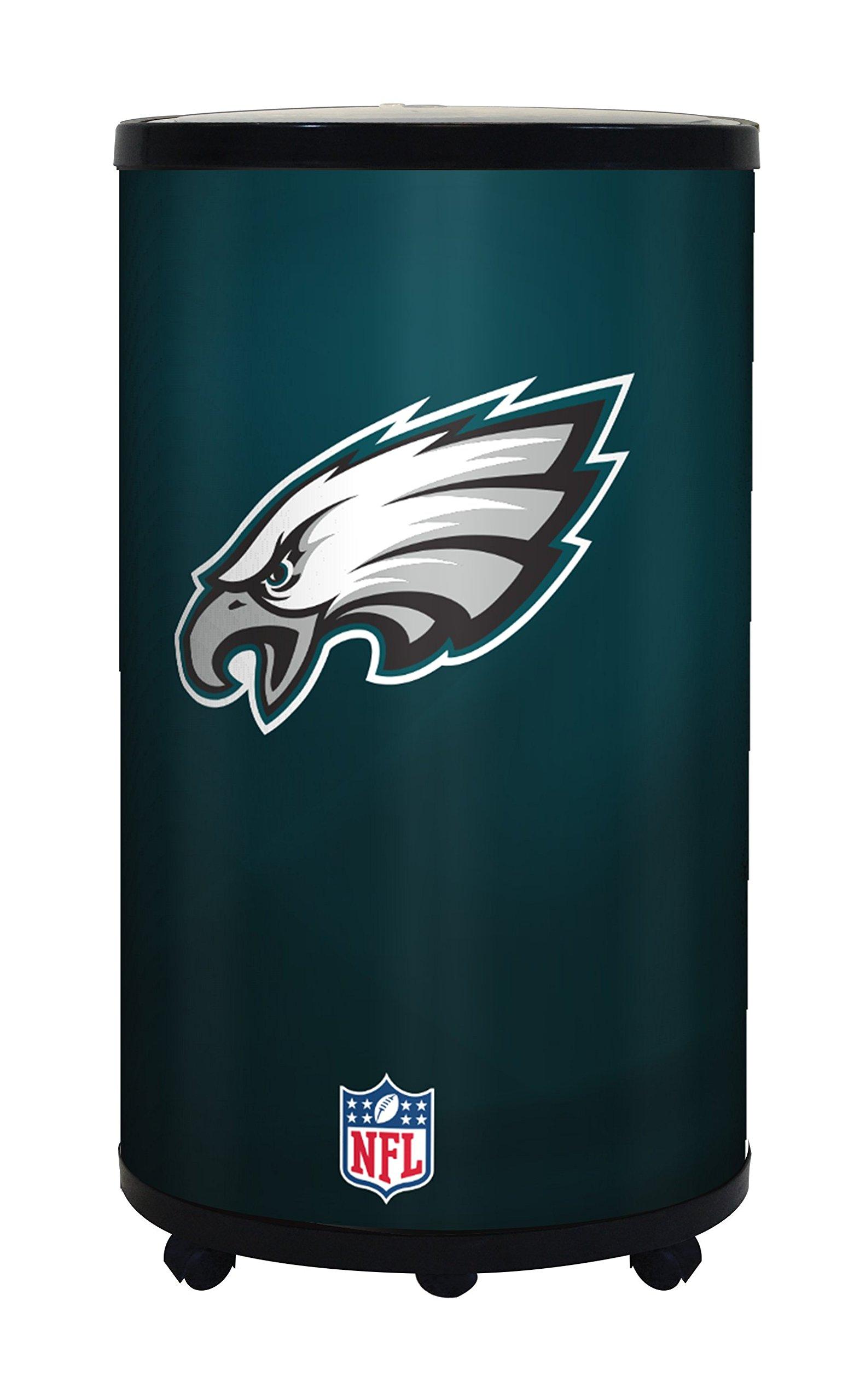 NFL Philadelphia Eagles Ice Barrel Cooler, Black, 19''