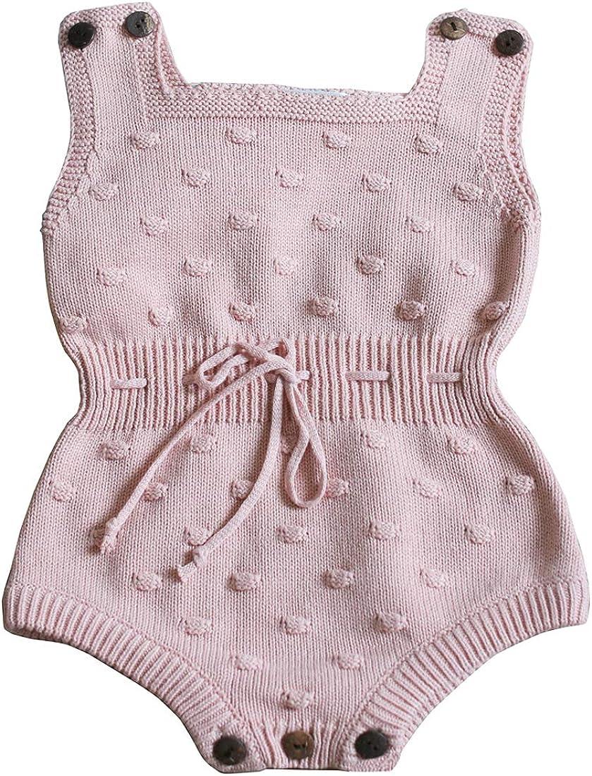 Wennikids Baby Boys and Girls Knitting Sweater Crochet Romper Climbing Clothes