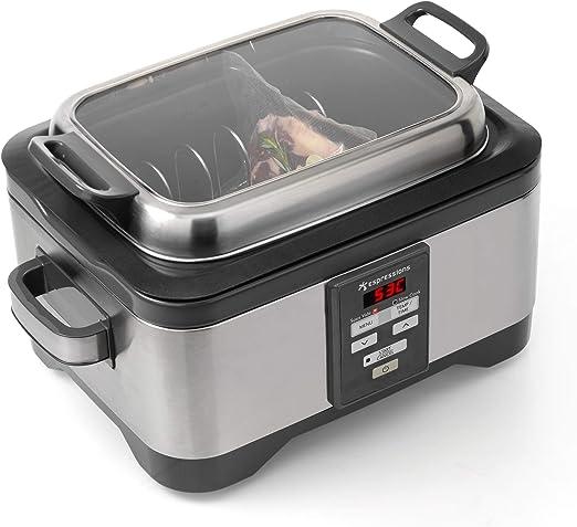 Espressions Sous-Vide - Robot de cocina (5,5 L, con temporizador, bandeja para carne y temperatura ajustable): Amazon.es: Hogar