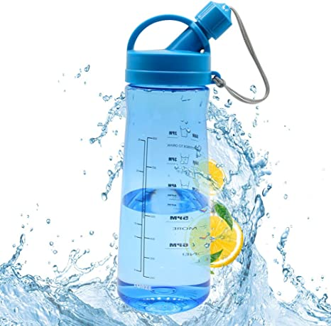 Water Bottle Drink Bottle with Leak Proof Lid Flip Up Sports Outdoor Gym UK Hot