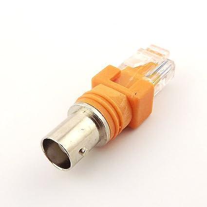 BNC hembra a RJ45 macho coaxial coaxial barril acoplador adaptador RJ45 a conector RF