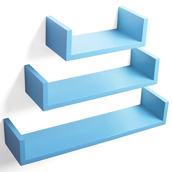 24 opinioni per WOLTU RG9239bl Mensole da Muro Mensola a Cubo Scaffale Parete Decorazione per