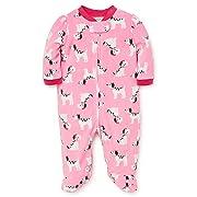 Little Me Baby Girl's Sleeper Sleepwear, dalmatian sachet pink/magenta, 6 Months