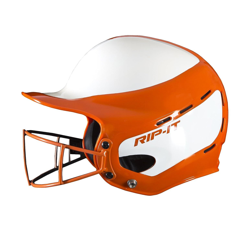 Rip-It Vision Pro Softball Helm Orange Medium   Large