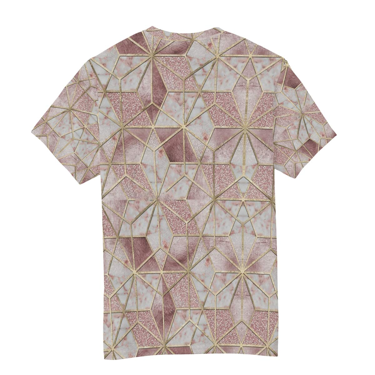 Horatiood Huberyyd Rose Flower Geometric Marble Mens T Shirts Graphic Funny Body Print Short T-Shirt Unisex Pullover Blouse