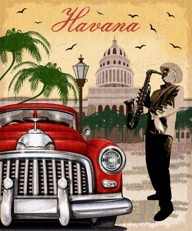 Telón de Fondo de Foto Retro Havana de 8 x 10 pies para Estudio fotográfico, Estilo Vintage, para Hombre con saxofón y Cubano, Fondo fotográfico: Amazon.es: Electrónica
