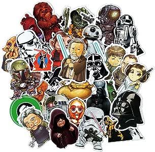QTHZL Pegatina 35 Piezas De Dibujos Animados De Star Wars No Se ...